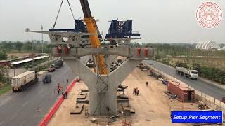 ขั้นตอนการก่อสร้างสะพานยกระดับ Motorway M6 Sec 28 BigBlue R2