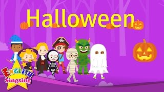 Kids vocabulary - Halloween - Halloween monster costumes - English educational video for kids