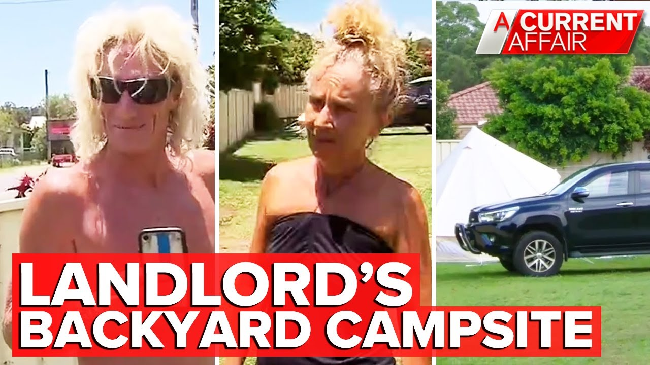 Surprising development for family traumatised by backyard campsite | A Current Affair