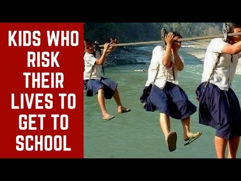 5 places in India where Kids risk their lives going to school | SC#256