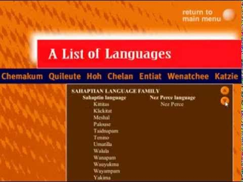WSHS Native American Language Exhibit