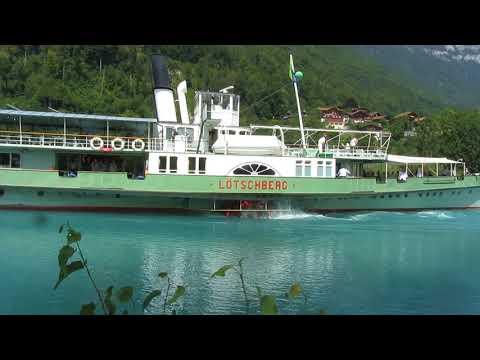 Колесный пароход в Швейцарии