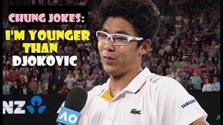 Hyeon Chung jokes on Novak Djokovic after win !