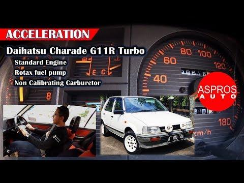 0 - 100 Km/h : DAIHATSU CHARADE CS G11R TURBO 1986