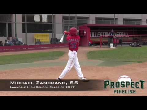Michael Zambrano Prospect Video, Inf, Lawndale High School Class of 2017