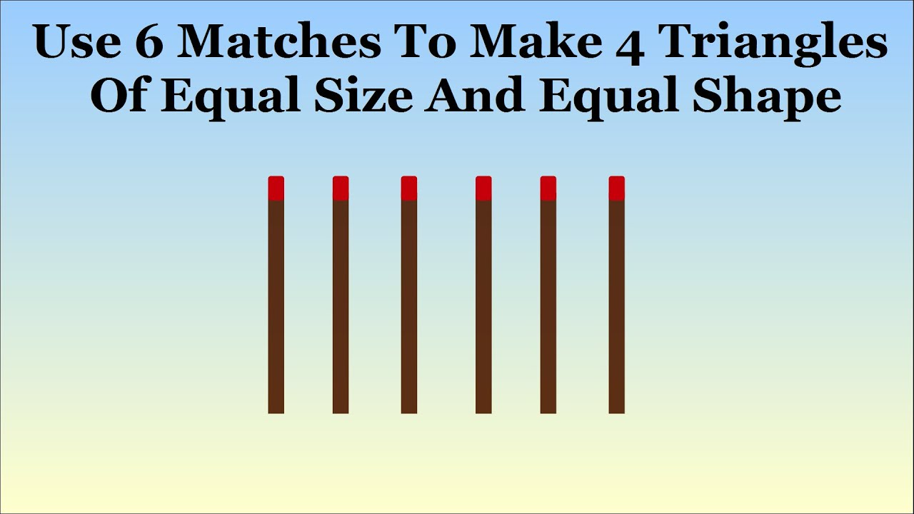 Can you solve the hardest matchstick puzzle outside the box can you solve the hardest matchstick puzzle outside the box thinking youtube expocarfo Image collections