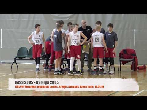 LJBL U-14 Superlīga IMSS 2005 58:43 BS Rīga 2005 [10.04.2019.]