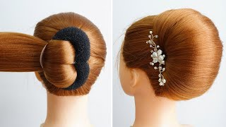 How To Make Hair Bun With Donut Easy Hairstyle For Prom New Hairstyle Girls Simple