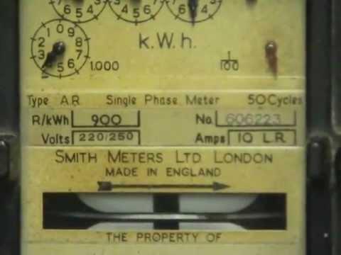 Smith type A.R. kilowatthour meter