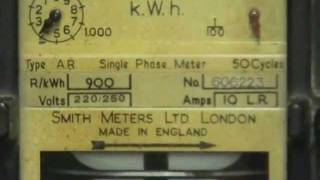 Smith type A.R. kilowatthour meter