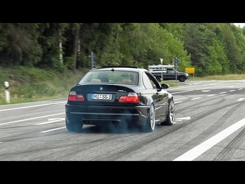 best-of-bmw-m-cars-leaving-nürburgring-tankstelle!-burnouts,-drifts,-lucky-moments-etc!