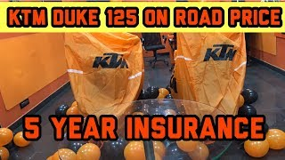 Ktm Duke 125 On Road Price With All Features And 5 Year Insurance 2018