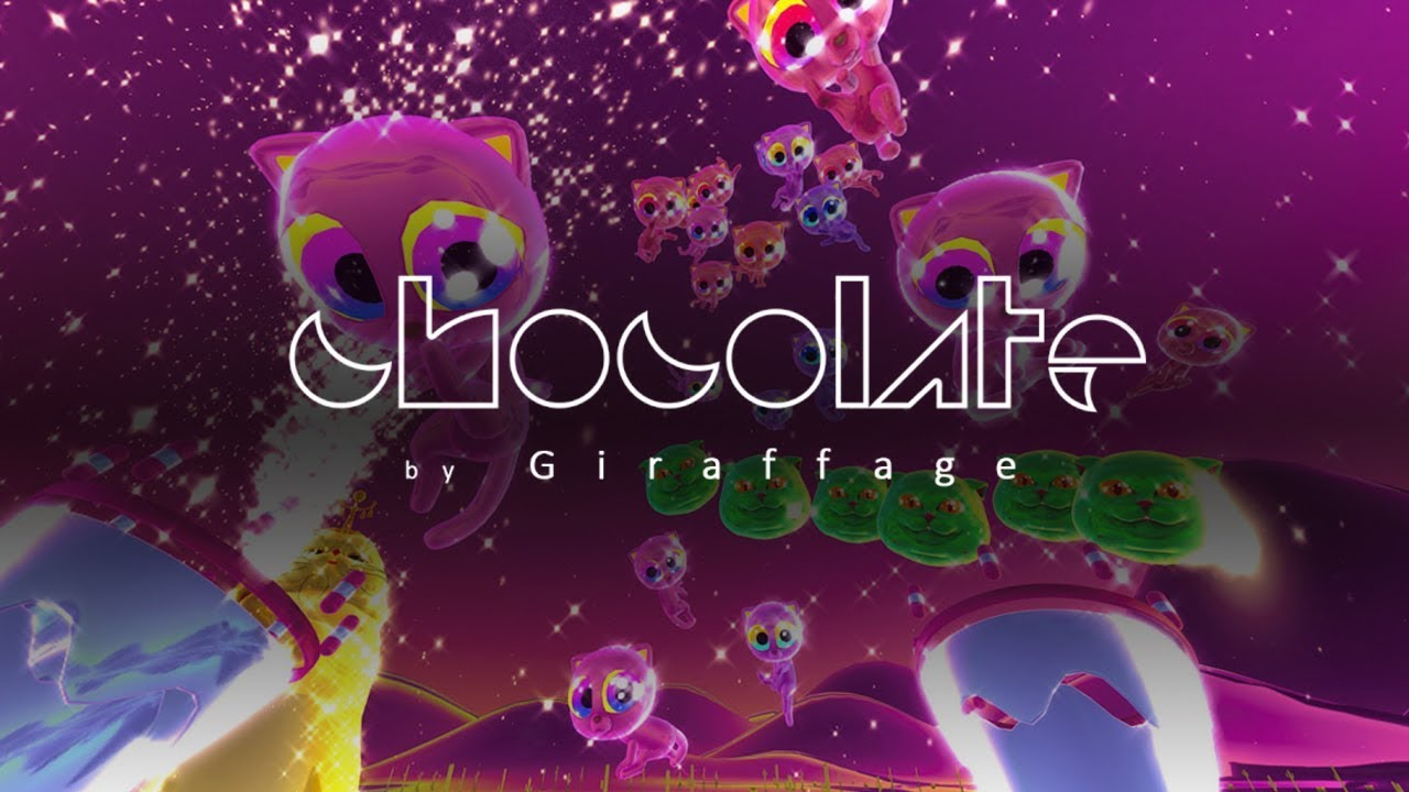 [ Chocolate VR ] A trippy neon, cat themed, sparkly, music visualizer