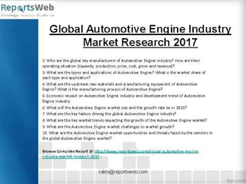 SWOT Analysis of Global Automotive Engine Market 2017