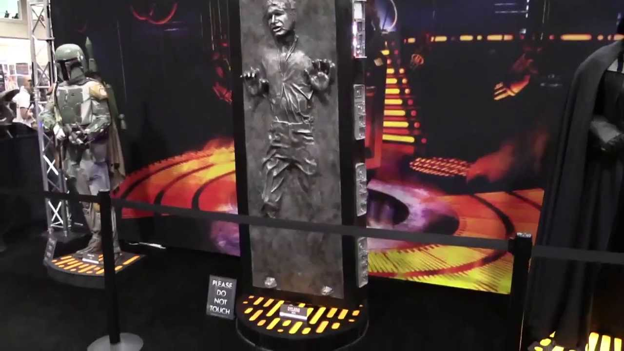 Sideshow Life Size Han Solo In Carbonite - YouTube