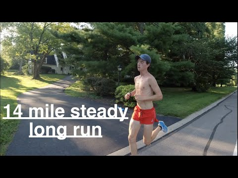 14 Mile Steady Long Run! / Long Distance Workout!