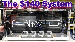 The $140 Sound System - Self Cooling Amp Rack Wired up, Tested. LED Lights, Acrylic Cover video 7