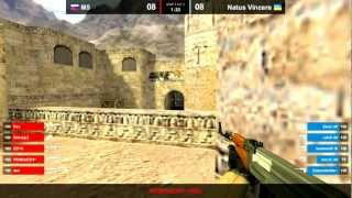 Na`Vi vs M5 de_dust2 map 2