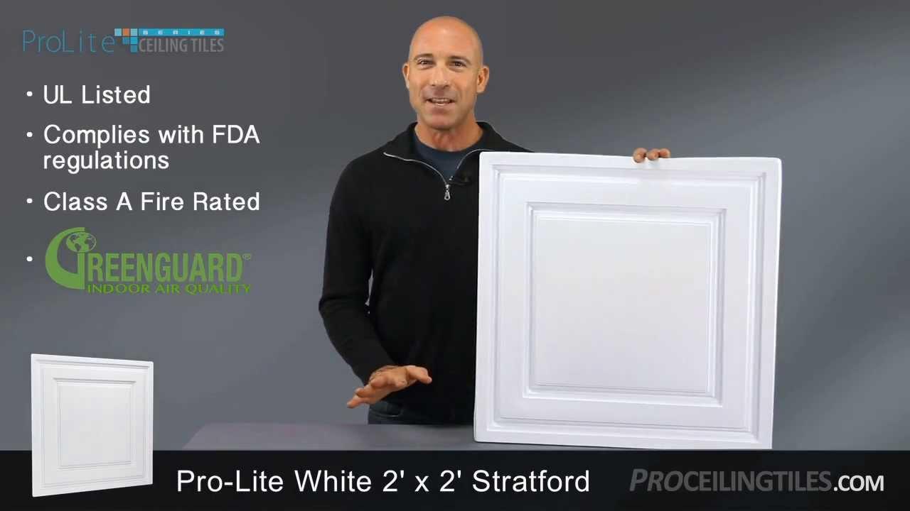 White stratford 2x2 ceiling tile youtube white stratford 2x2 ceiling tile dailygadgetfo Image collections