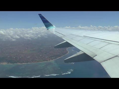[HD] Short flight from Bali to Lombok aboard a Garuda Indonesia Boeing 737 - 07/09/2016