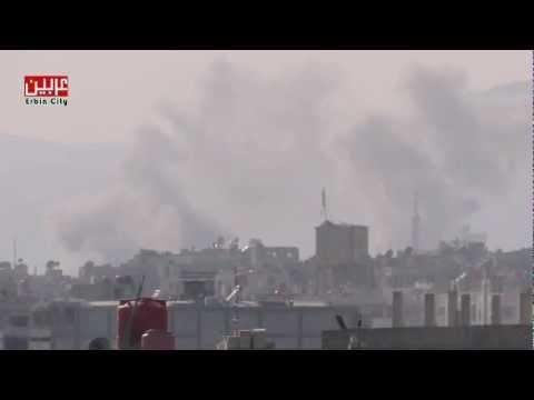 11-3-2013 القصف العنيف على حي جوبر بعدسة تنسيقية عربين