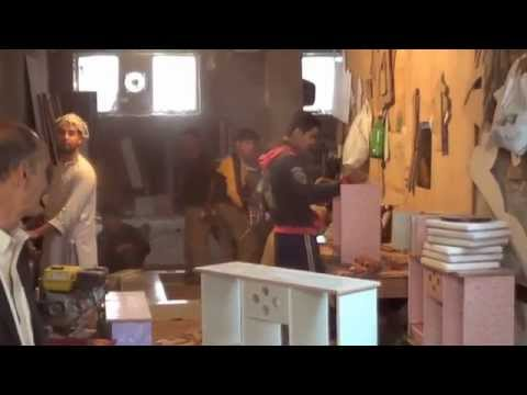 Fawzia Arian visit to a furniture store in Kabul