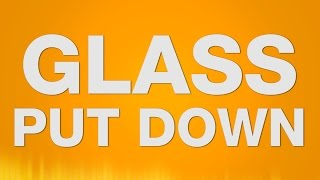 Glass put down SOUND EFFECT - Putting down a Glass Glas abstellen SOUND