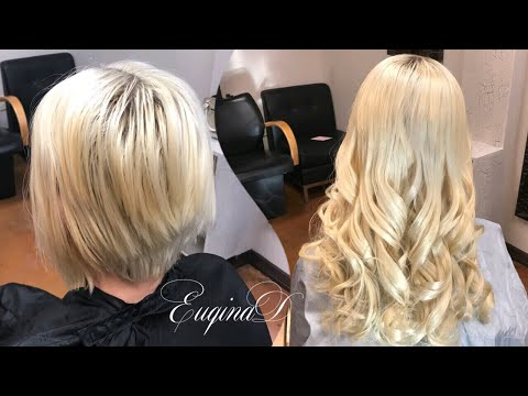 Short to long temporary microlink extension on blonde
