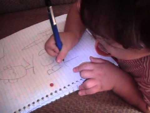 2 Year Old Toddler Writing Alphabet Youtube