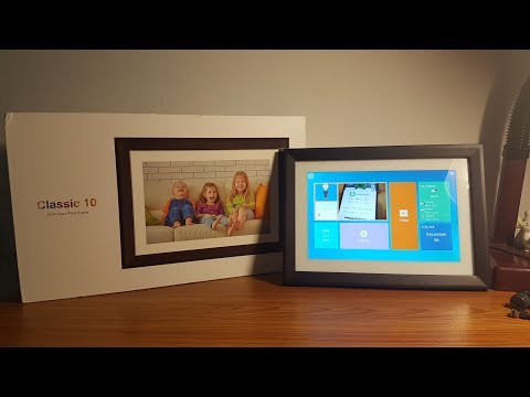 Dragon Touch NEW WiFi Digital Picture Frame Classic 10 [Review & Unboxing]