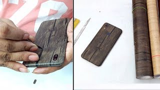 Wooden Lamination on Vivo V9 Decorate your mobile at Rs.10