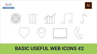 How to Create Popular Web Icon in Adobe Illustrator || Icon For UI Design Part #2