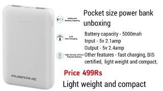 Ambrane 5000mah power bank Unboxing TYAGI JI TECHNICAL