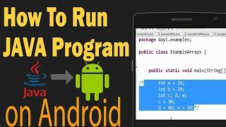 видео run java on android