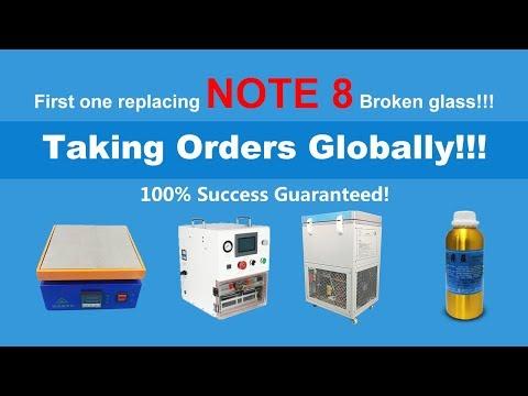 How to replace Galaxy Note 8 N950 broken glass/ Cómo reemplazar vidrio roto de Galaxy Note 8