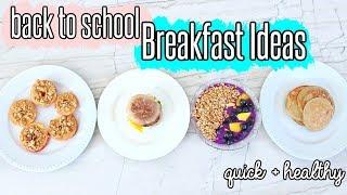 BACK TO SCHOOL BREAKFAST IDEAS !! Healthy + Easy + Cheap