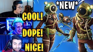 """Streamers React to *NEW* """"Deep Sea Destroyer"""" & """"Dominator"""" Skins! 