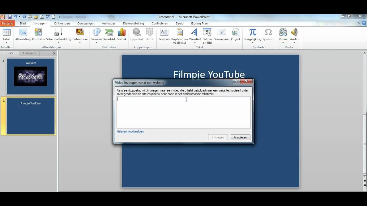 Zet Een Filmpje Van YouTube In PowerPoint 2010