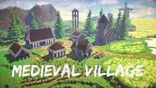 minecraft medieval village timelapse