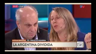 Myriam Bregman en TN debate con Lombardi e Iglesias