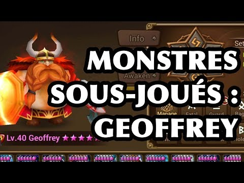 [Summoners War] MONSTRES SOUS-JOUÉS : GEOFFREY (VIKING FEU)