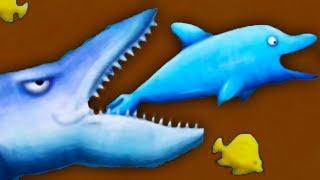 Приключение маленькой ГОЛОДНОЙ РЫБЫ #4 Акула съела нас Веселая игра как мультик от КИДА Family fun