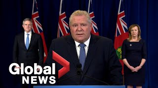 """Coronavirus outbreak: Doug Ford shocked by """"unthinkable"""" job losses following COVID-19 pandemic"""