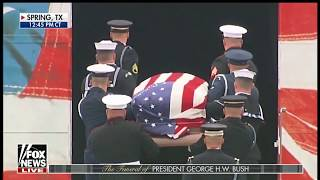 PRESIDENTIAL TRAIN Arrival Ceremony For George H.W. Bush