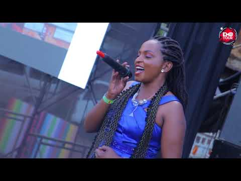 REBECCA SOKI PERFORMING BARAKA ZANGU AT EMB MATHARE TOUR.