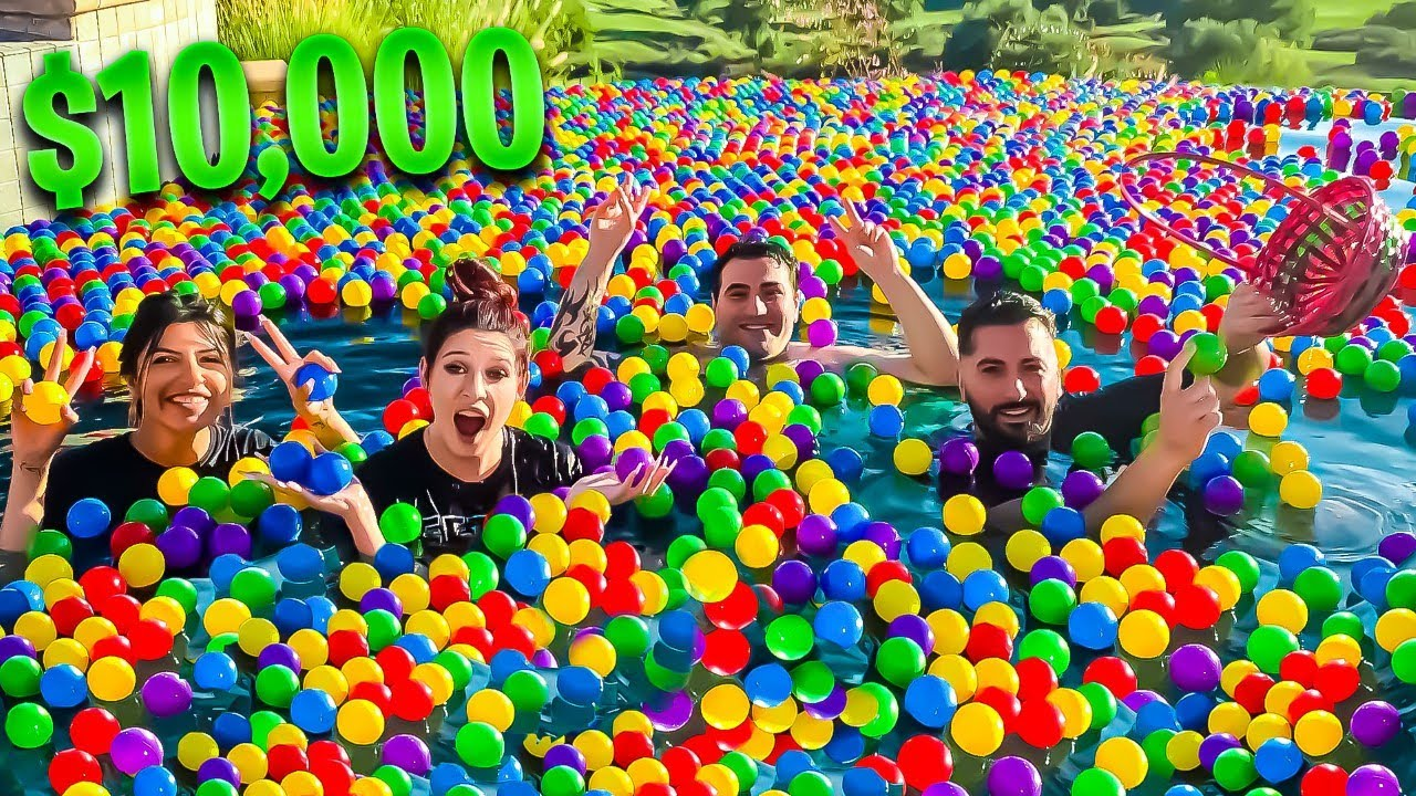 Collect the MOST Balls, Win $10,000 - Ball Pit Challenge