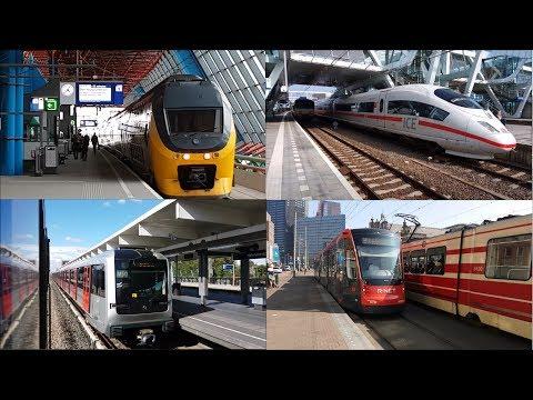 Train Metro Tram Bus Ferry Mix Compilation