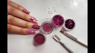 How To Apply Loose Glitter To Your Nails (5 Techniques & Different Types Of Glitter) - femketjeNL