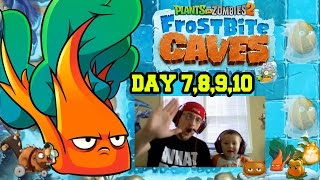 CHARD GUARD! PVZ 2: Frostbite Caves - Dad & Chase play Days 7, 8, 9 & 10