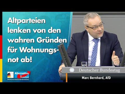 Altparteien lenken von den wahren Gründen für Wohnungsnot ab! - Marc Bernhard - AfD-Fraktion